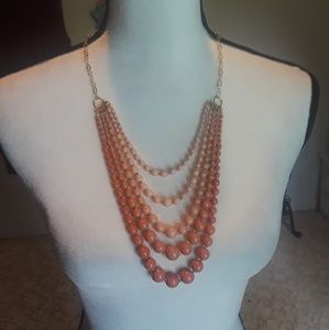 Peach Bead Necklace (never worn)